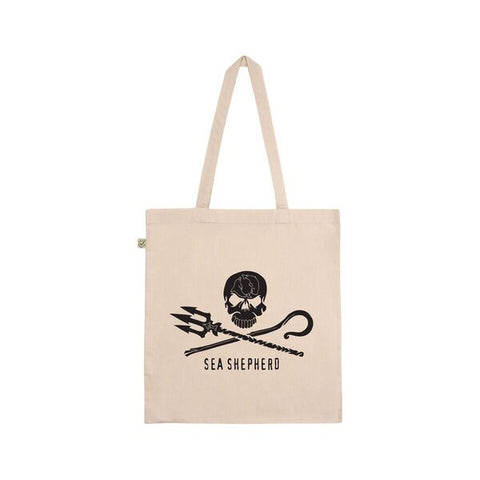 Jolly Roger Tote Unisex Big Logo 100% Organic Cotton