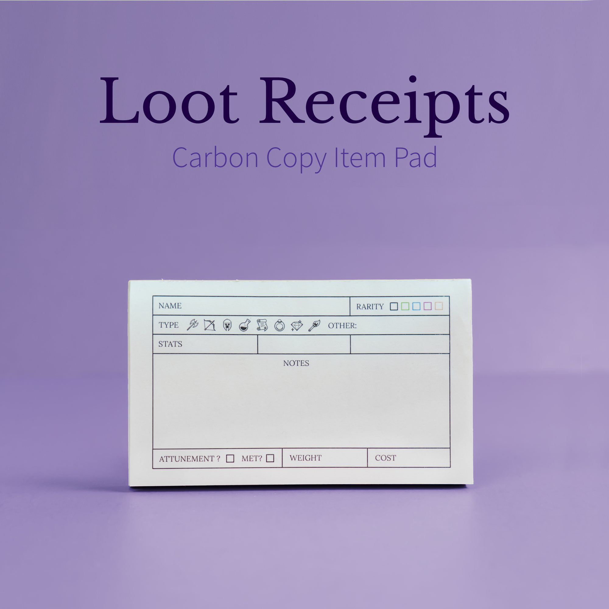 Loot Receipts