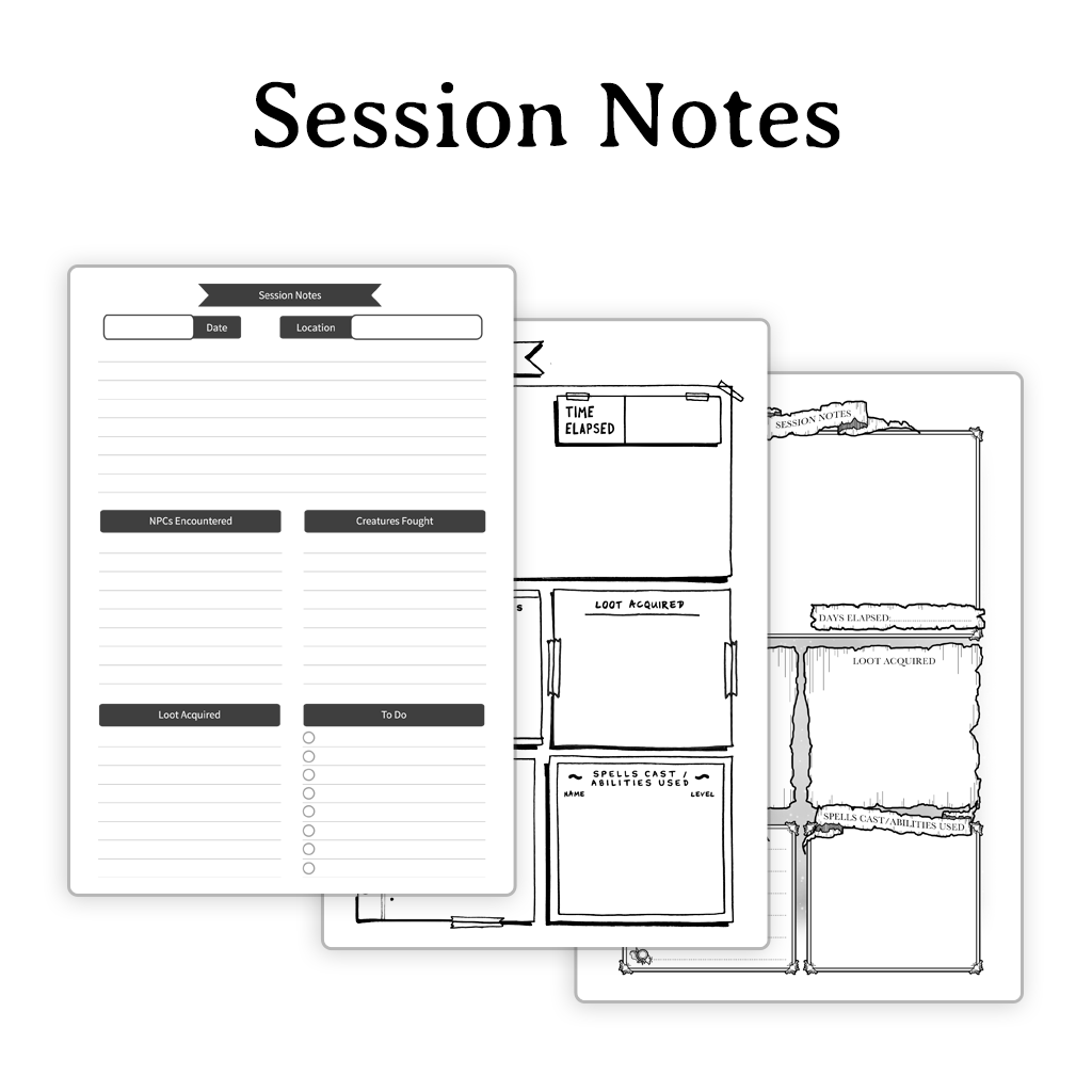 Session Notes Pack