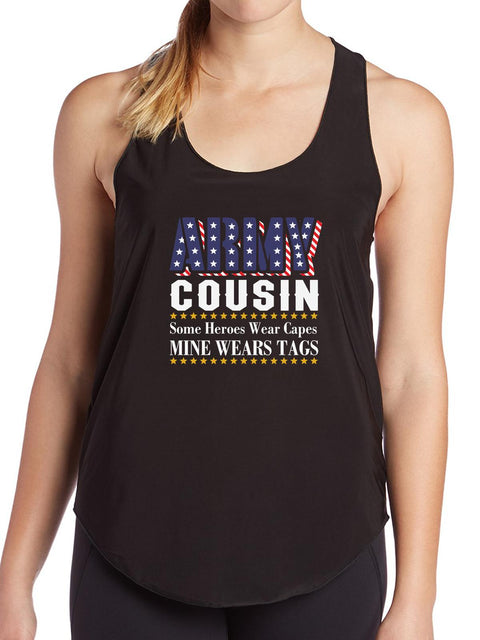 Proud Army Cousin T Shirt Military Birthday Gift Funny Womens Tank