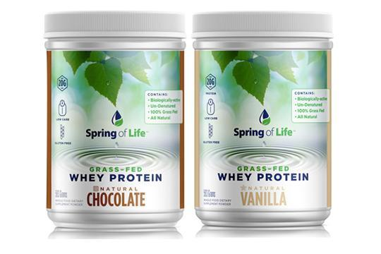 Spring of Life 100% Grass-Fed Natural Whey Protein - HIITBURN
