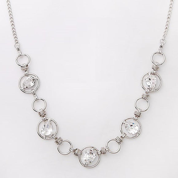 Mika Silver Necklace with Swarovski Crystals