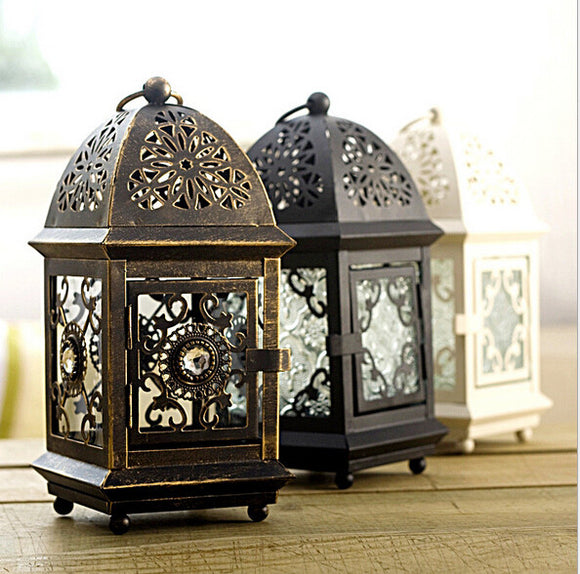 Square Metal European Wall Hanging Votive Candle Holder
