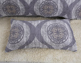 Classical Grey Mosaic Medallion Reversible Quilted Coverlet Bedspread Set