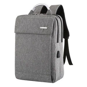 Dual Compartment Anti Theft Soft Back Computer Backpack with Top Handle