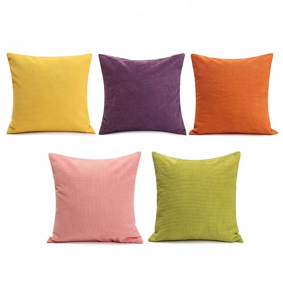 Colorful Corduroy Pillow Covers