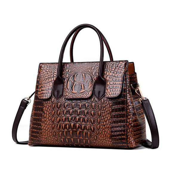 Crocodile Grain Tote Bag