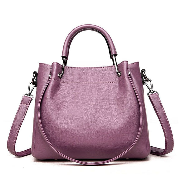 Elegant Solid Color Tote Bag