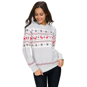 Women's Casual Long-sleeve Christmas Pattern Sweatshirt