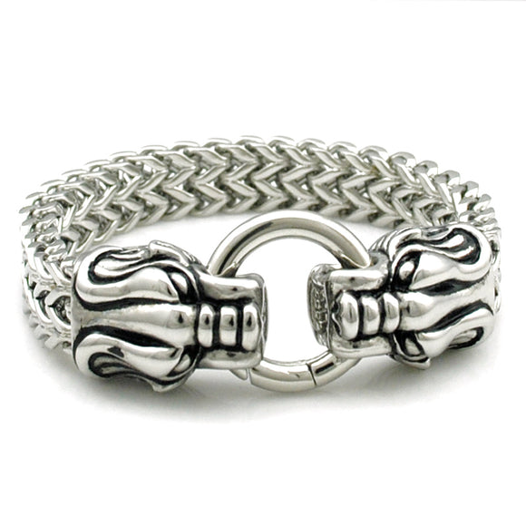 Men's Stainless Steel Leopard Bracelet