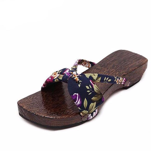 New 2017 Women's Japanese Style Candlenut Clog Sandals