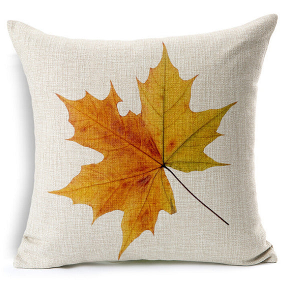 Stylish Autumn Leaf Decor Cushion Pillow Cover