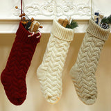 Christmas Decoration Fashion Knitted Woolen Wall Hanging Sock