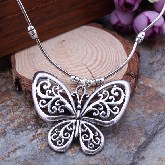 Beautiful Bohemian Vintage Butterfly Pendant