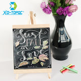 Desktop Bulletin Blackboard New Pine Wood Easel Chalk Board 20x36cm Message Chalkboard