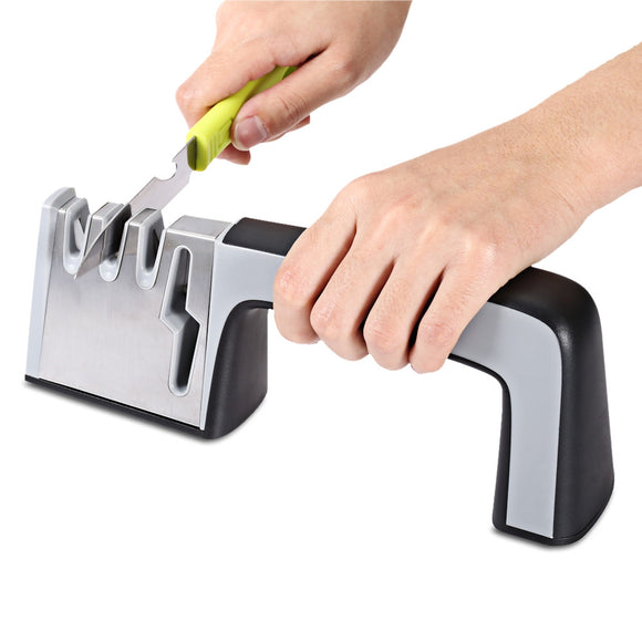 Original 4 In 1 Knife & Scissors Sharpener Four Stages Sharpening Stone