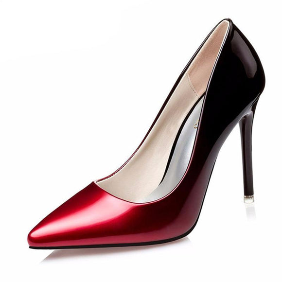Stunning Women's Gradient Color High Heel Pumps