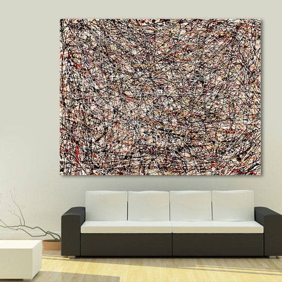 Classic Abstract Multi Color Art For Home Or Office