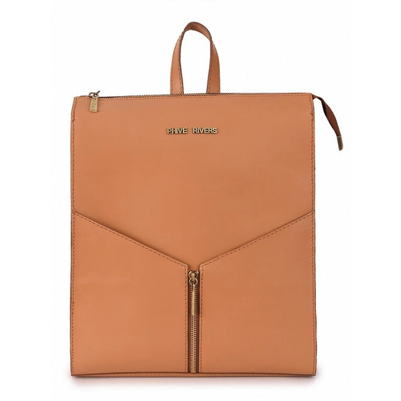 Women's Leather Tan Backpack
