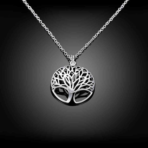 Amazing Silver Tree Of Life Necklace