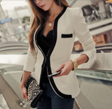 Womens Slim Fit Single Button Blazer in Black