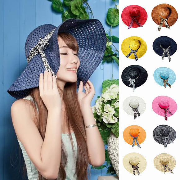 Women's Summer Wide Brim Straw Sun Hats