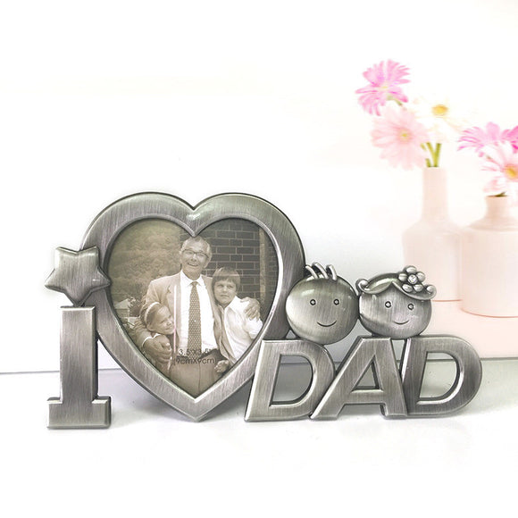 New Arrival Vintage Photo frame for DAD Lovely Metal Picture Frame Father's Day