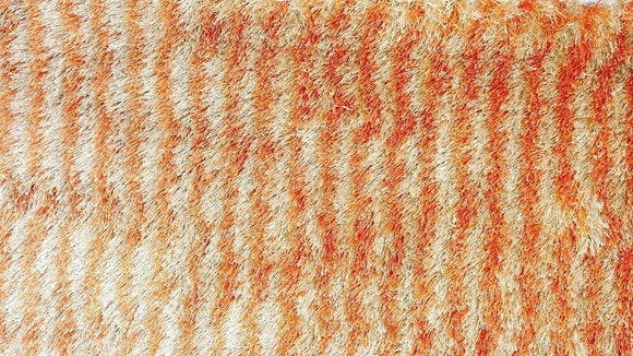 Soft Striped Orange & Cream Rug Mat - 20