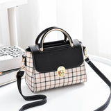 Stylish Plaid Handbag
