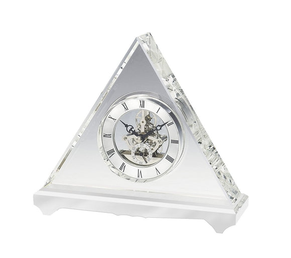 Triangle Elegant Crystal Desk Clock