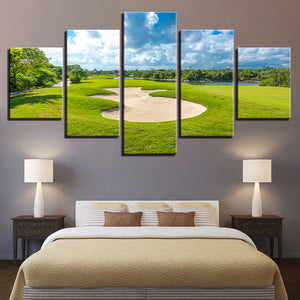 Gorgeous Golf Course Canvas Painting