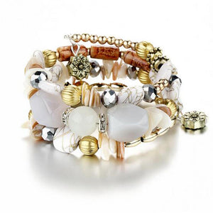 Stylish Multilayer Bead Charm Bracelet