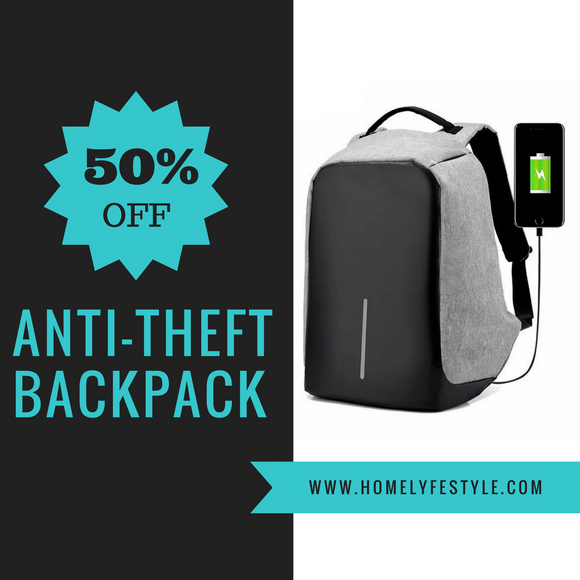 Must Have Anti Theft USB Charge Accessible Waterproof Backpack