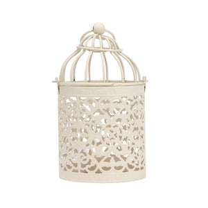 Creative Tealight Hanging Lantern: Vintage Candle Holder Bird Cage Design