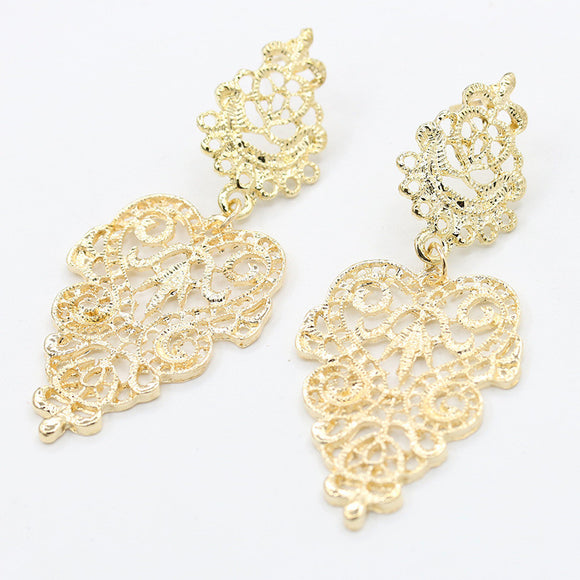 Elegant Bohemia Big Leaf Drop Earrings