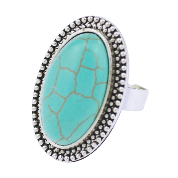 Large Size Antique Style Turquoise Rings With Mixed Designs