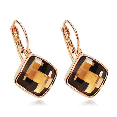 Stylish Square Crystal Earrings
