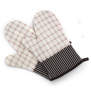 Microwave Oven Glove Heat Resistant Cotton Baking Mitt