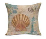 Sea Shell Inspired Decorative Pillow Cases