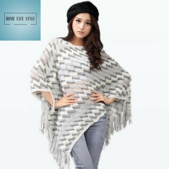 Stylish Knitted Patterned Pullover