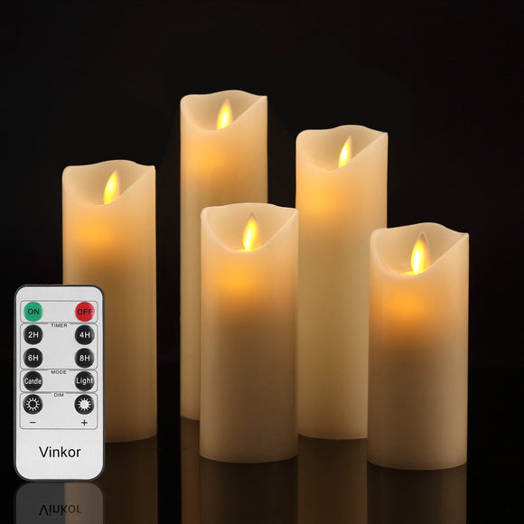 Flameless Battery Operated Candle Set With Remote Control
