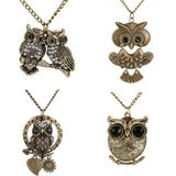 New Trendy Vintage Antique Bronze Owl Necklaces