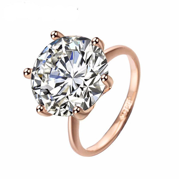 Beautiful Rose Gold Color Austrian Crystal Ring