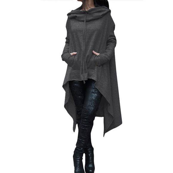 Stylish Women's Asymmetric Hoodie