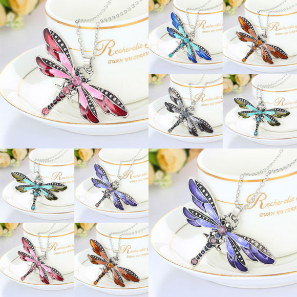 Crystal Butterfly Necklace Pendant Charm Chain Necklace For Women Jewelry Gifts Animal