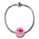 I Love My Granddaughter Stainless Steel Bracelet