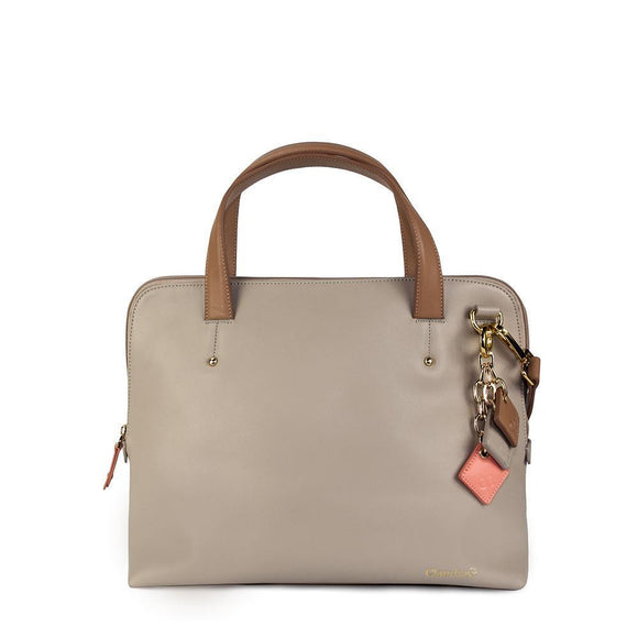 Elisa Leather Handbag-Tan