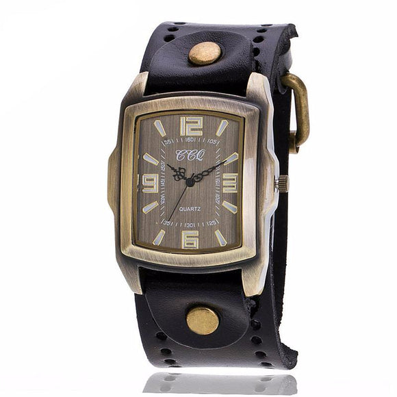 Stylish Vintage Look Square Men's Watch