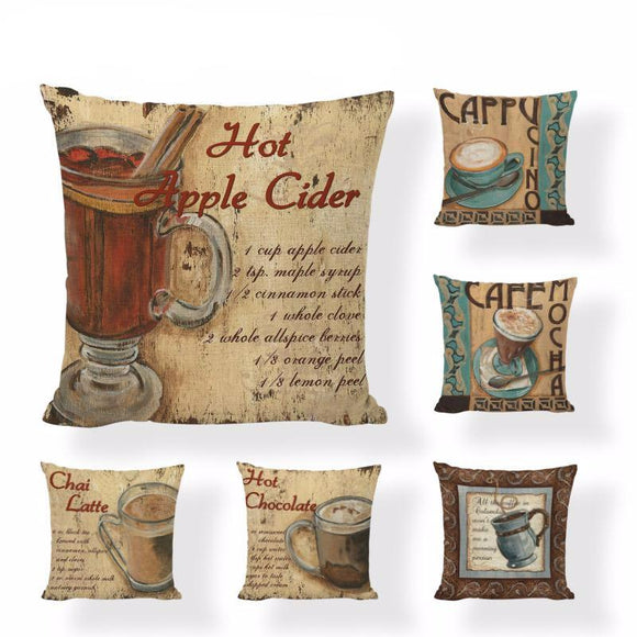 Classic Cafe Inspired Pillow Covers