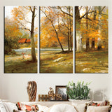 Gorgeous Fall Lake Scene Modular Canvas Painting